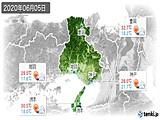 2020年06月05日の兵庫県の実況天気