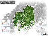 2020年06月05日の広島県の実況天気