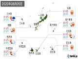 2020年06月05日の沖縄県の実況天気