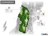 2020年06月05日の山形県の実況天気