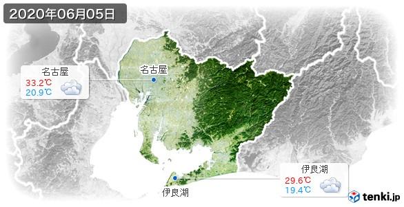 愛知県(2020年06月05日の天気