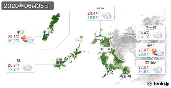 長崎県(2020年06月05日の天気