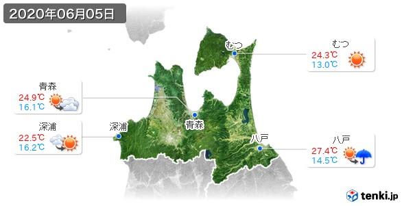 青森県(2020年06月05日の天気