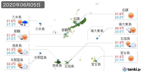 沖縄県(2020年06月05日の天気
