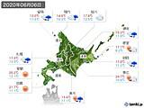 2020年06月06日の北海道地方の実況天気