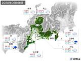 2020年06月06日の東海地方の実況天気