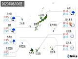 2020年06月06日の沖縄県の実況天気