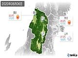2020年06月06日の山形県の実況天気