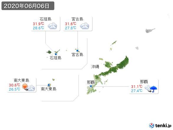 沖縄地方(2020年06月06日の天気
