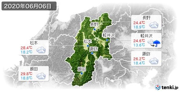 長野県(2020年06月06日の天気