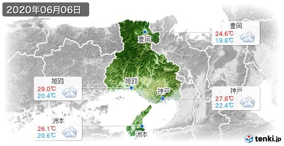 兵庫県(2020年06月06日の天気