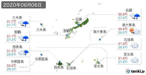 沖縄県(2020年06月06日の天気