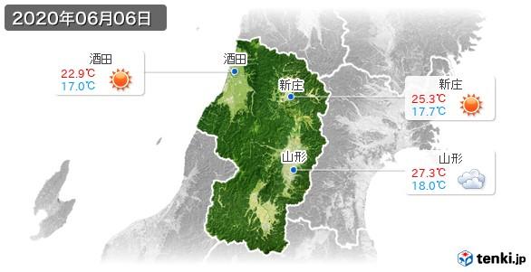 山形県(2020年06月06日の天気