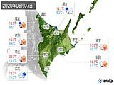 2020年06月07日の道東の実況天気