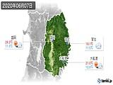 2020年06月07日の岩手県の実況天気