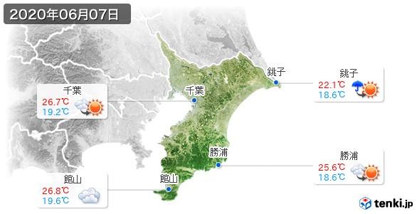 千葉県(2020年06月07日の天気