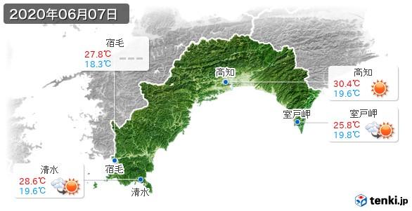 高知県(2020年06月07日の天気