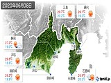 2020年06月08日の静岡県の実況天気