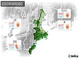 2020年06月08日の三重県の実況天気