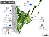 2020年06月08日の道東の実況天気
