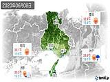 2020年06月08日の兵庫県の実況天気