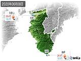 2020年06月08日の和歌山県の実況天気