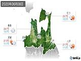 2020年06月08日の青森県の実況天気