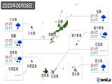 2020年06月08日の沖縄県の実況天気
