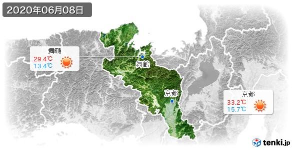 京都府(2020年06月08日の天気