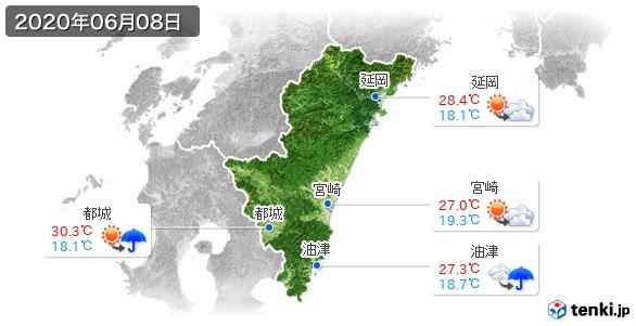 宮崎県(2020年06月08日の天気