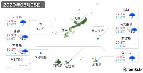 沖縄県(2020年06月08日の天気