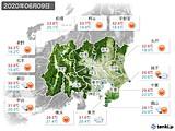 2020年06月09日の関東・甲信地方の実況天気