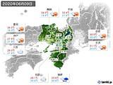 2020年06月09日の近畿地方の実況天気