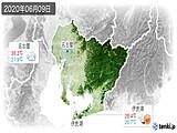 2020年06月09日の愛知県の実況天気