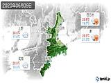 2020年06月09日の三重県の実況天気
