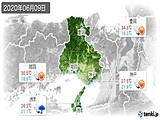 2020年06月09日の兵庫県の実況天気
