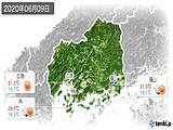 2020年06月09日の広島県の実況天気