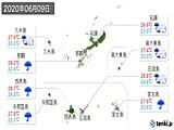 2020年06月09日の沖縄県の実況天気