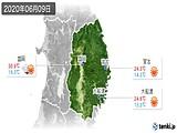 2020年06月09日の岩手県の実況天気