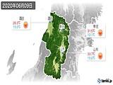 2020年06月09日の山形県の実況天気