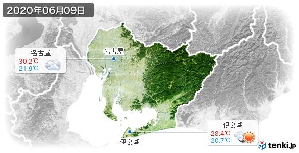 愛知県(2020年06月09日の天気