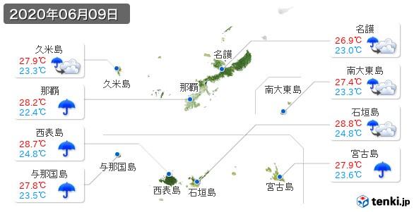 沖縄県(2020年06月09日の天気