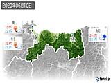 2020年06月10日の鳥取県の実況天気