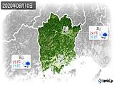 2020年06月10日の岡山県の実況天気