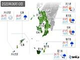 2020年06月10日の鹿児島県の実況天気