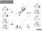 2020年06月10日の沖縄県の実況天気