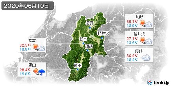 長野県(2020年06月10日の天気