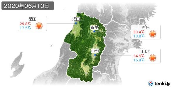 山形県(2020年06月10日の天気