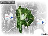 2020年06月11日の山梨県の実況天気