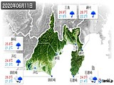2020年06月11日の静岡県の実況天気